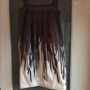 BCBG maxazria strapless off white and mauve dress